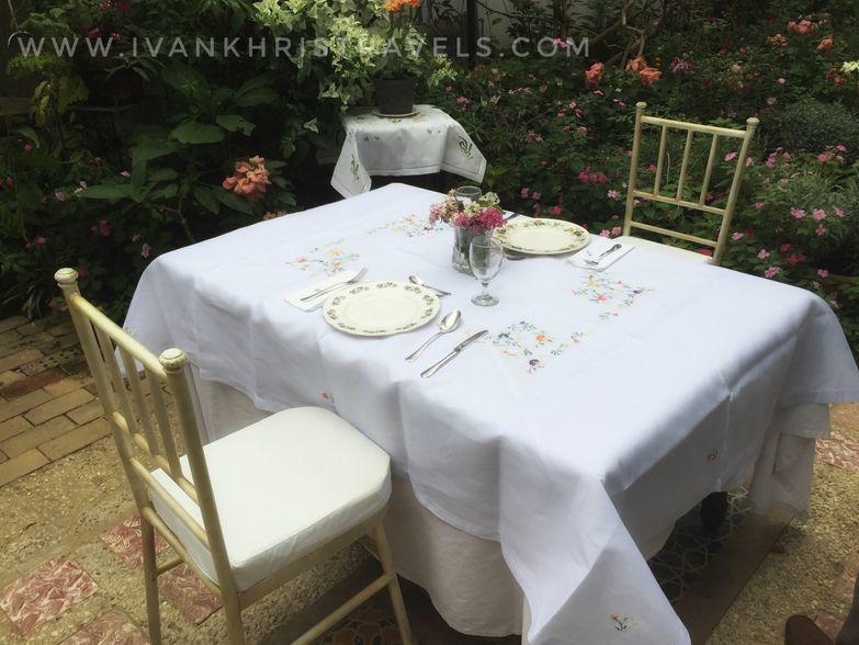 Table in the Proposal Garden of Sonya's Garden