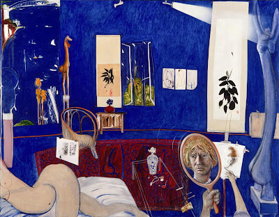 Brett Whiteley - Self portrait in the studio,1976.