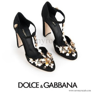 Crown Princess Victoria wore DOLCE & GABBANA T-Strap Brocade Pumps