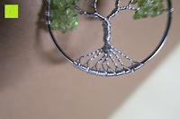 silber: JOVIVI Edelstein Chakra-Anhänger Baum des Lebens Anhänger Pandent mit 56cm Kette,Lebensbaum Halskette für Damen Herren