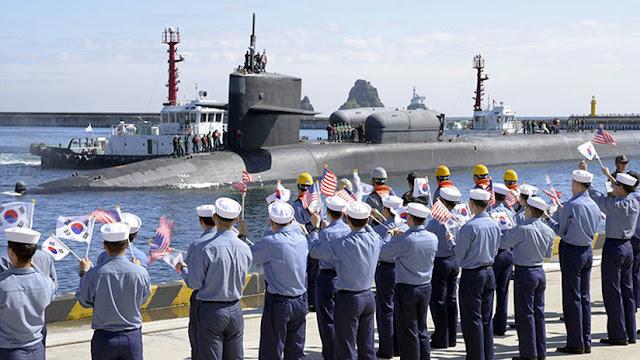 Un submarino nuclear de EE.UU. armado con 154 misiles atraca en Corea de Sur