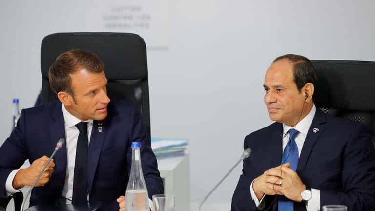 السيسي-وماكرون-يناقشان-الأوضاع-في-ليبيا-والتعاون-العسكري-والأمني