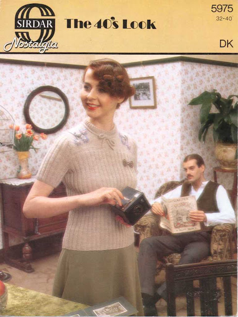 The Vintage Pattern Files: Free 1940s Knitting Pattern - Sirdar Nostalgia No.5975