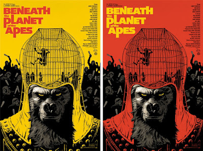 Beneath the Planet of the Apes Screen Print by Paolo Rivera x Mondo