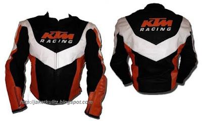 Gambar Jaket Kulit KTM Racing