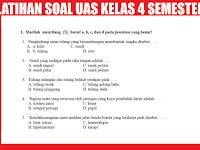 Latihan Soal UAS Kelas 4 SD/MI Semester 1 (ganjil)