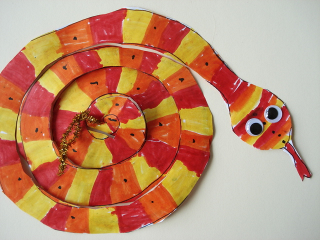 A Faithful Attempt Chinese New Year Inspired Spiral Swirly Snake
