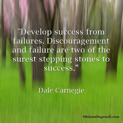 inspirational quote on developing success from failure