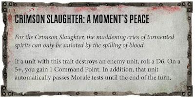 Rasgos Señor de la Guerra Masacre Carmesí