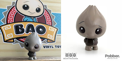 Designer Con 2018 Exclusive Black Truffle Bao Vinyl Figure by Scott Tolleson x Pobber