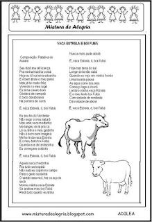 Cordel vaca Estrela e boi Fubá