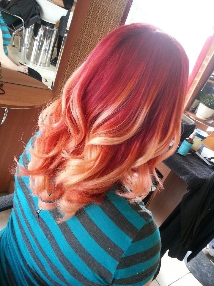 Top 10 balayage highlights ideas hair color hairstyles hair red hair with blonde balayage 2016 pmusecretfo Image collections