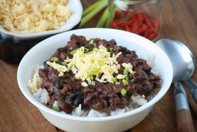Poroto negro y arroz / Black beans and rice
