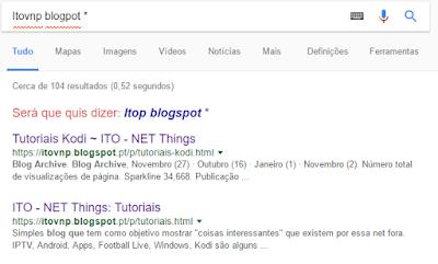 google search *