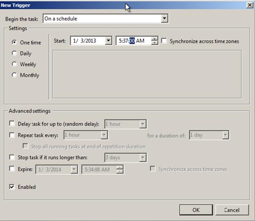 schedule a job in sap