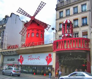 Cabaret Le Moulin Rouge en Pigalle en París