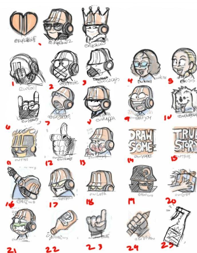 2019 Twitch Emotes Final Round Preview | EryckWebbGraphics