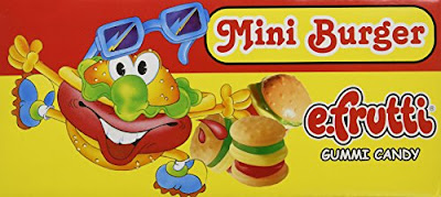 Gummy Candy Hamburgers - Mini E-Fruitti Burgers - Grocery Snacks