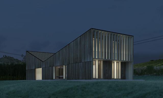 La casa passiva di estudoquarto in prossima costruzione sul lago di garda