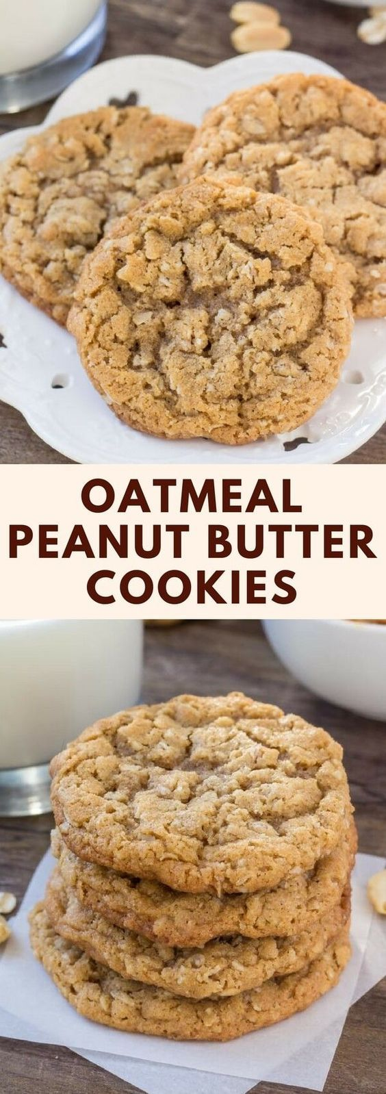 Peanut Butter Oatmeal Cookies #peanut #butter #oatmeal #cookies #cookierecipes #dessert #dessertrecipes #easydessertrecipes Desserts, Healthy Food, Easy Recipes, Dinner, Lauch, Delicious, Easy, Holidays Recipe, Special Diet, World Cuisine, Cake, Grill, Appetizers, Healthy Recipes, Drinks, Cooking Method, Italian Recipes, Meat, Vegan Recipes, Cookies, Pasta Recipes, Fruit, Salad, Soup Appetizers, Non Alcoholic Drinks, Meal Planning, Vegetables, Soup, Pastry, Chocolate, Dairy, Alcoholic Drinks, Bulgur Salad, Baking, Snacks, Beef Recipes, Meat Appetizers, Mexican Recipes, Bread, Asian Recipes, Seafood Appetizers, Muffins, Breakfast And Brunch, Condiments, Cupcakes, Cheese, Chicken Recipes, Pie, Coffee, No Bake Desserts, Healthy Snacks, Seafood, Grain, Lunches Dinners, Mexican, Quick Bread, Liquor