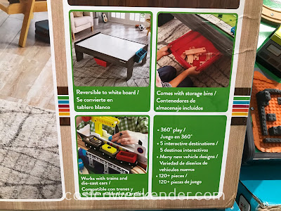 The KidKraft My Own City Vehicle and Activity Table provides your kid a world of his/her own to control