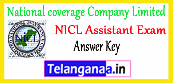 NICL National coverage Company Limited Assistant 2017 Answer Key Cutoff Result