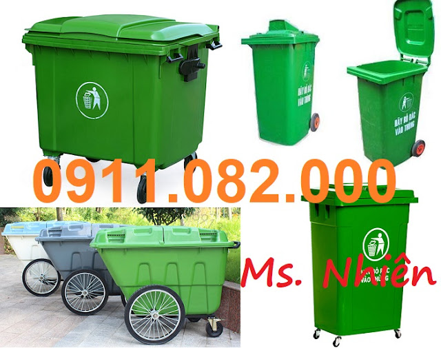 Đại hạ giá thùng rác 120L 240L giá rẻ- Thùng rác nhựa nắp kín