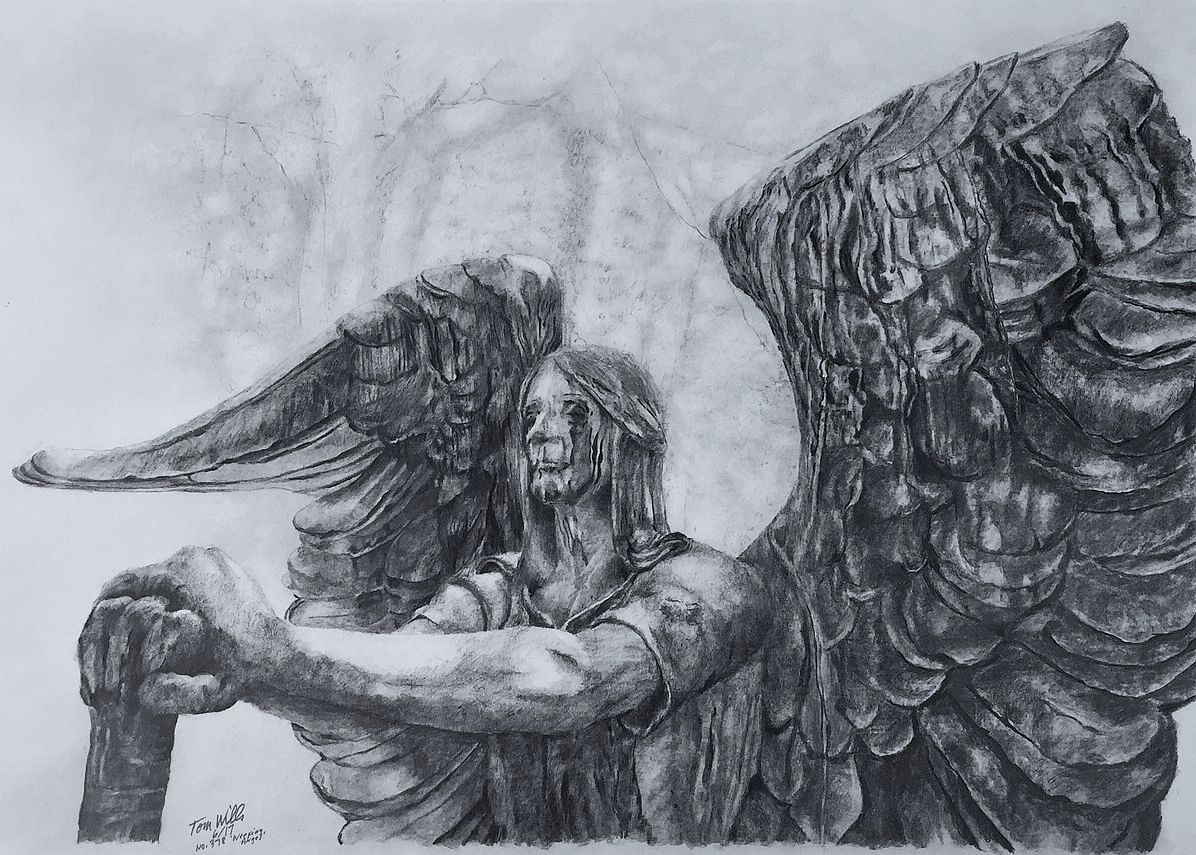 Weeping Angel Statue Drawing