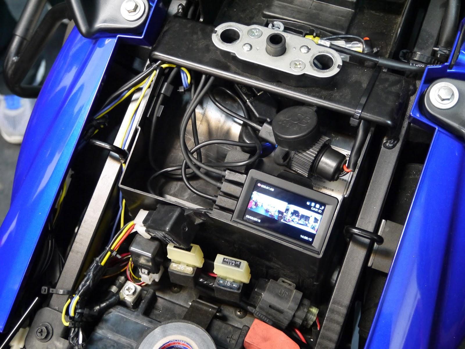 Innovv Action Cam Innovv K1 Motorcycle Camera Installed