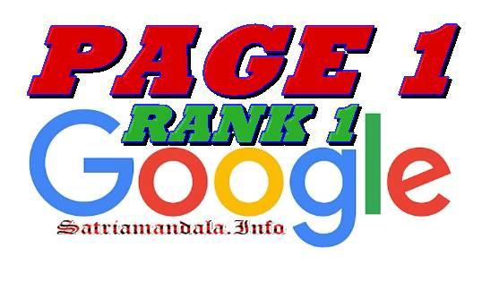 Faktor Page One Pada Sebuah Web Blog