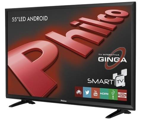 Smart TV da Philco de 55 polegadas faz pareamento com celular e tem sistema Android