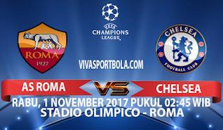 Prediksi AS Roma vs Chelsea 1 November 2017