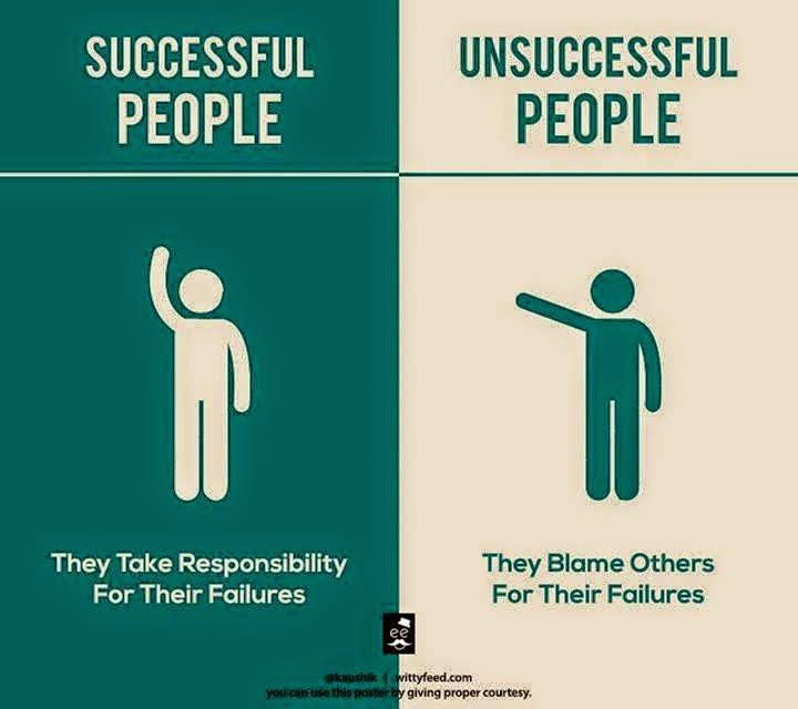 2 Successful People Takes Responsibility & Unsuccessful People Blame Others