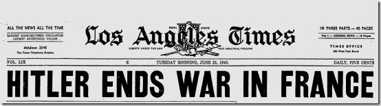 25 June 1940 worldwartwo.filminspector.com LA Times headline