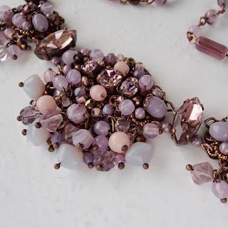 vintage style jewelry in misty lavender purple