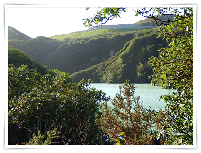 Cornwall china clay lake
