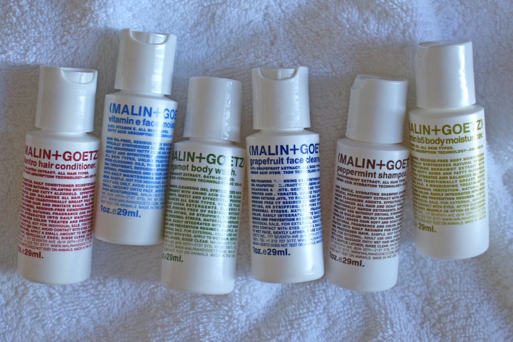 Malin & Goetz travel toiletries - style blog