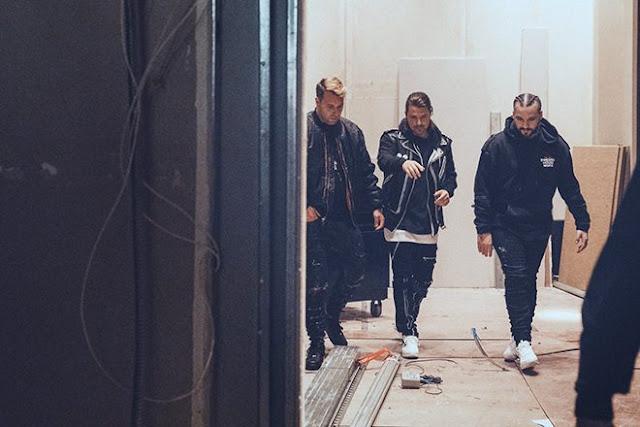 瑞典浩室黑手黨3人從後台走出來