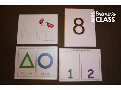 Playdough Mats for Letters, Shapes, Counting, and Numbers