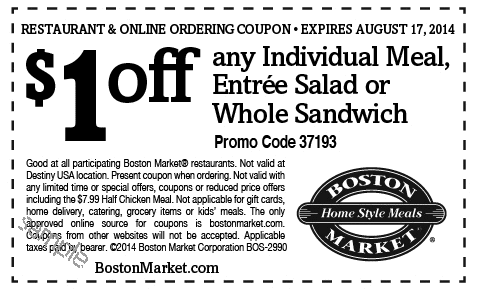 Boston market coupons 3 off 6