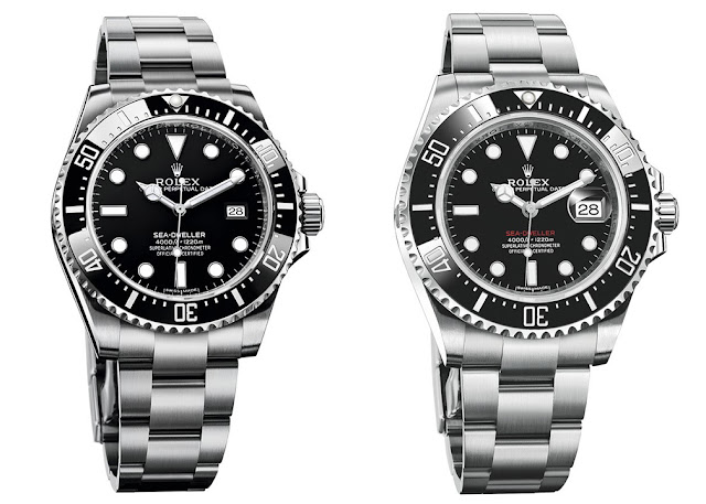Sea-Dweller 4000 vs 50th Anniversary Sea-Dweller Model Comparison