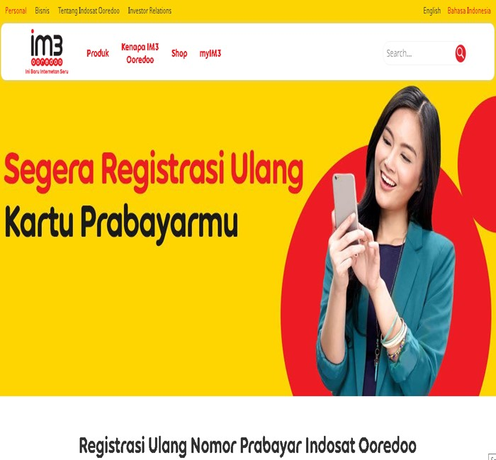 Registrasi Ulang Kartu Indosat-indosatooredoo.com