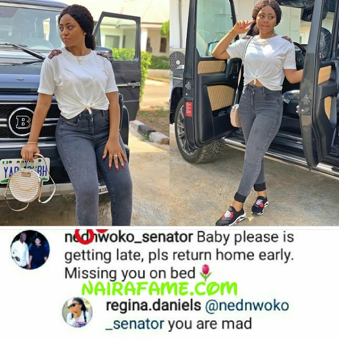 "Come Home, Missing You on Bed! ""You Are Mad""- Regina Daniels Tells Husband"