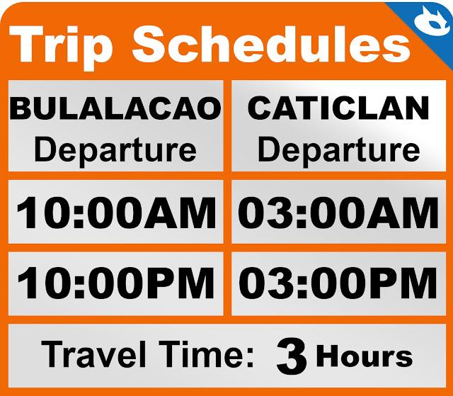Bulalacao to Caticlan ferry schedule