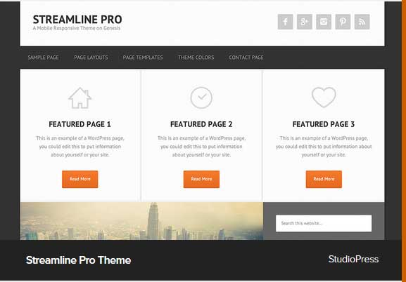 Streamline Pro Theme Award Winning Pro Themes for Wordpress Blog : Award Winning Blog