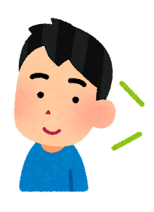 語学の勉強をする人のイラスト(男性・リスニング)