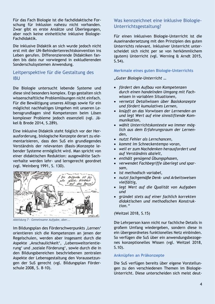 Einführung in die Fachdidaktik: Inklusiver Biologie-Unterricht