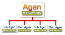 agen dan sub agen Sanford diagram