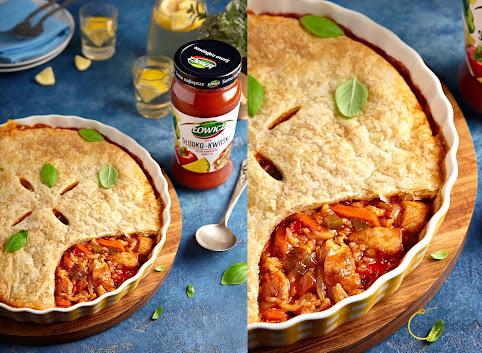 Chicken pot pie z sosem słodko-kwaśnym + KONKURS