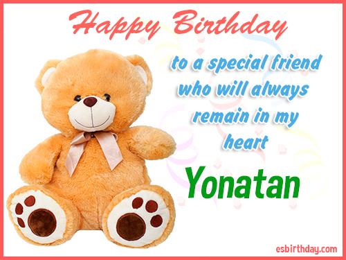 Yonatan Happy birthday friend